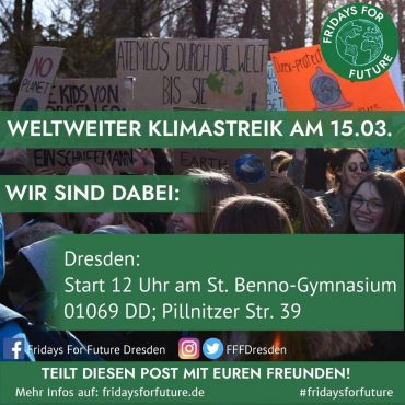 Fridays for future Dresden @ St. Benno Gymnasium