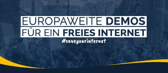 #SaveTheInternet Demo in Chemnitz