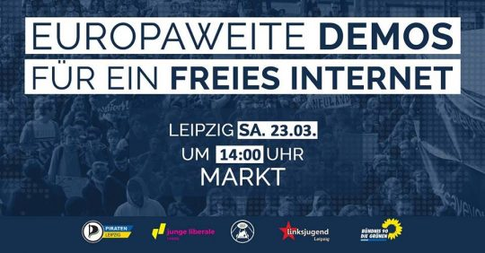 #SaveTheInternet Demo in Leipzig @ Markt