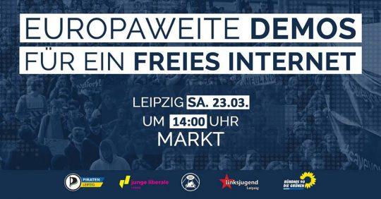 #SaveTheInternet Demo in Leipzig @ Markt