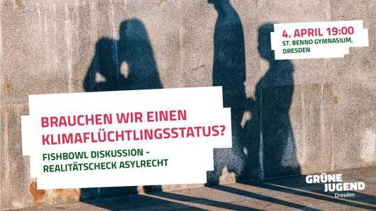 Fishbowl-Diskussion Realitätscheck Asylrecht – Brauchen wir einen Klimaflüchtlingsstatus? @ St. Benno-Gymnasium (Aula)