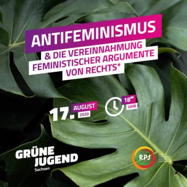 Antifeminismus und die Vereinnahmung feministischer Argumente von rechts (nur mit Vorabanmeldung!)