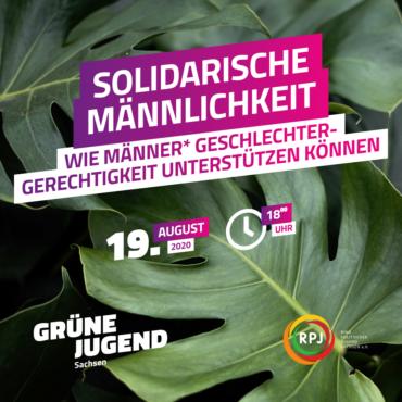 Solidarische Männlichkeit - Wie Männer Geschlechtergerechtigkeit unterstützen können @ Online-Seminar, Link wird rechtzeitig bekannt gegeben