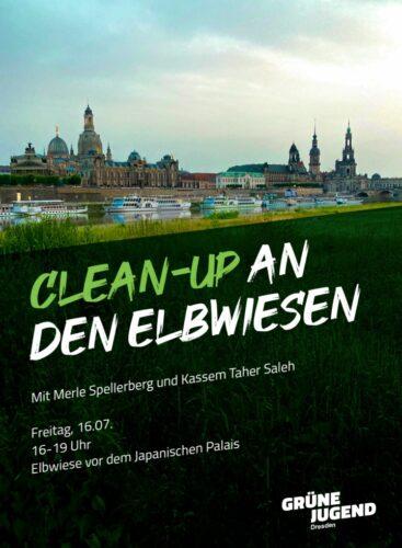 Clean-Up an den Elbwiesen