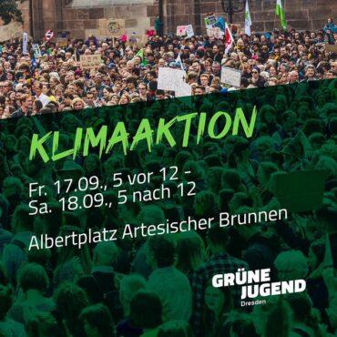 Klimazeltaktion der GJ Dresden @ Artesischer Brunnen